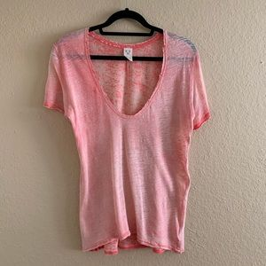 WE THE FREE Pink V-Neck Tee